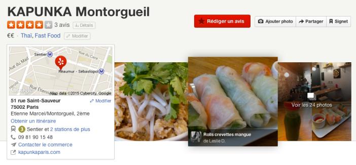 Kapunka Montorgueil sur Yelp.fr